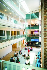 Thousands of students in the School of Business attend class and study in the Beatty Center.