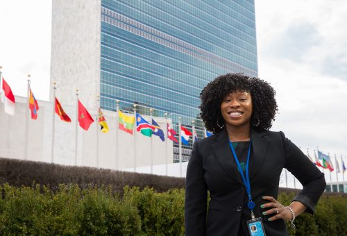 Alumna Does a World of Good at U.N.