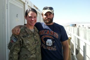 Burns with his cousin in Kandahar.