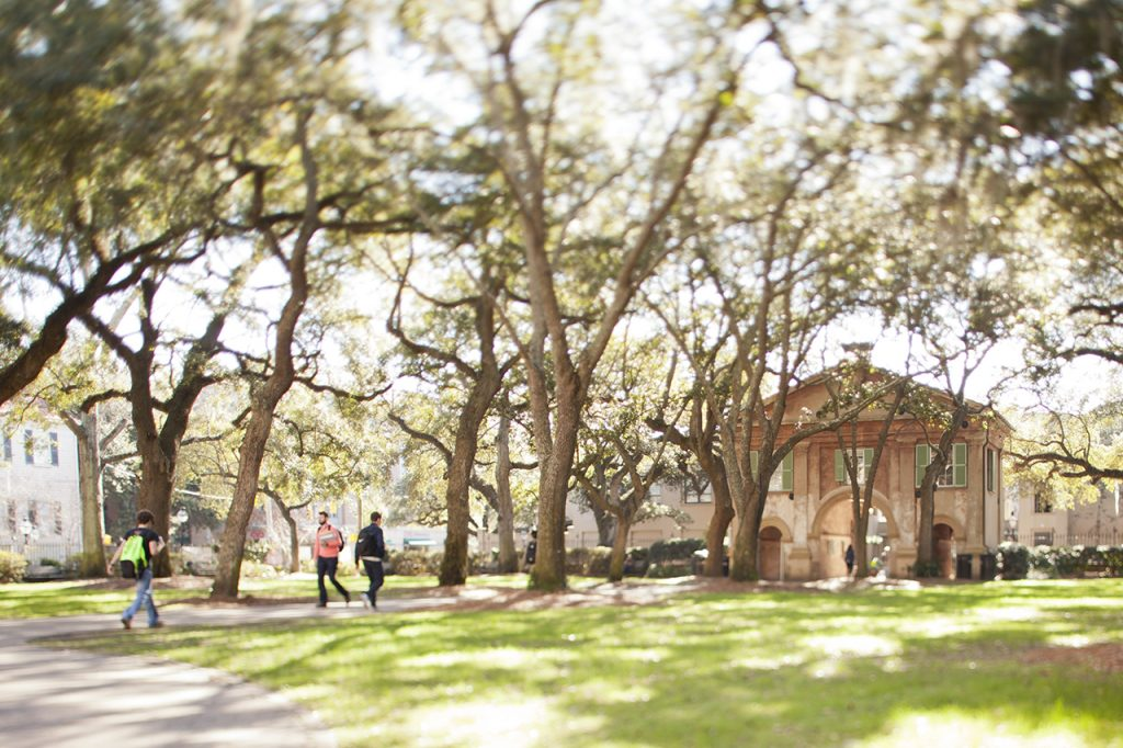 Porters Lodge in Cistern Yard at the College of Charleston