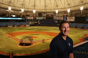 Photos by James Borchuck Brian Plexico has been with the Tampa Bay Rays since 2006.