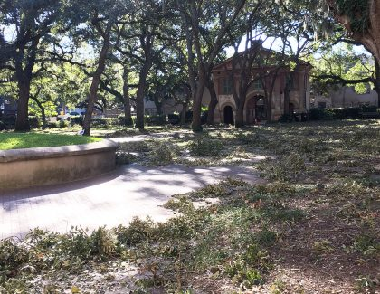 Campus Clean-Up Continues Ahead of Students' Return