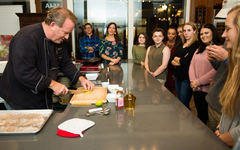 Chef Delights Students with Mouth-Watering Lecture