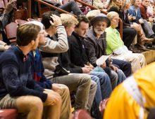 Bill Murray, Matt Czuchry at CofC Basketball Game