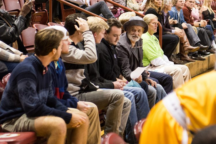 Bill Murray, Matt Czuchry at CofC Basketball Game