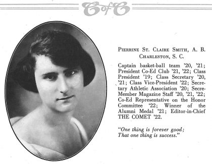 CofC's First Alumna Was a Campus Dynamo