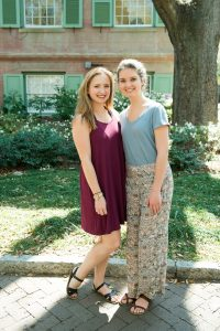 Annie Mineri (left) and Kate Cockerham are the founders of the College's chapter of One Love.