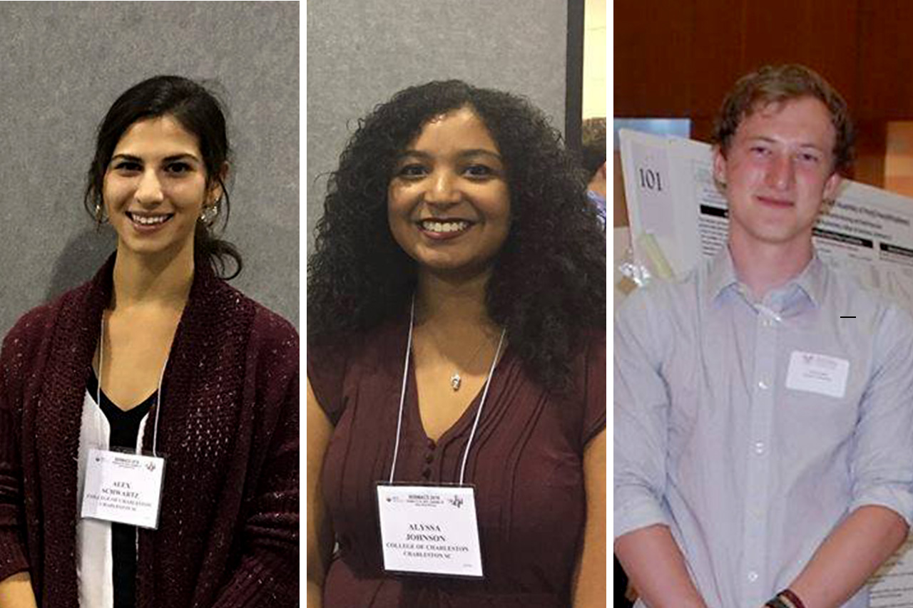 Three College of Charleston students were named Goldwater Scholars.