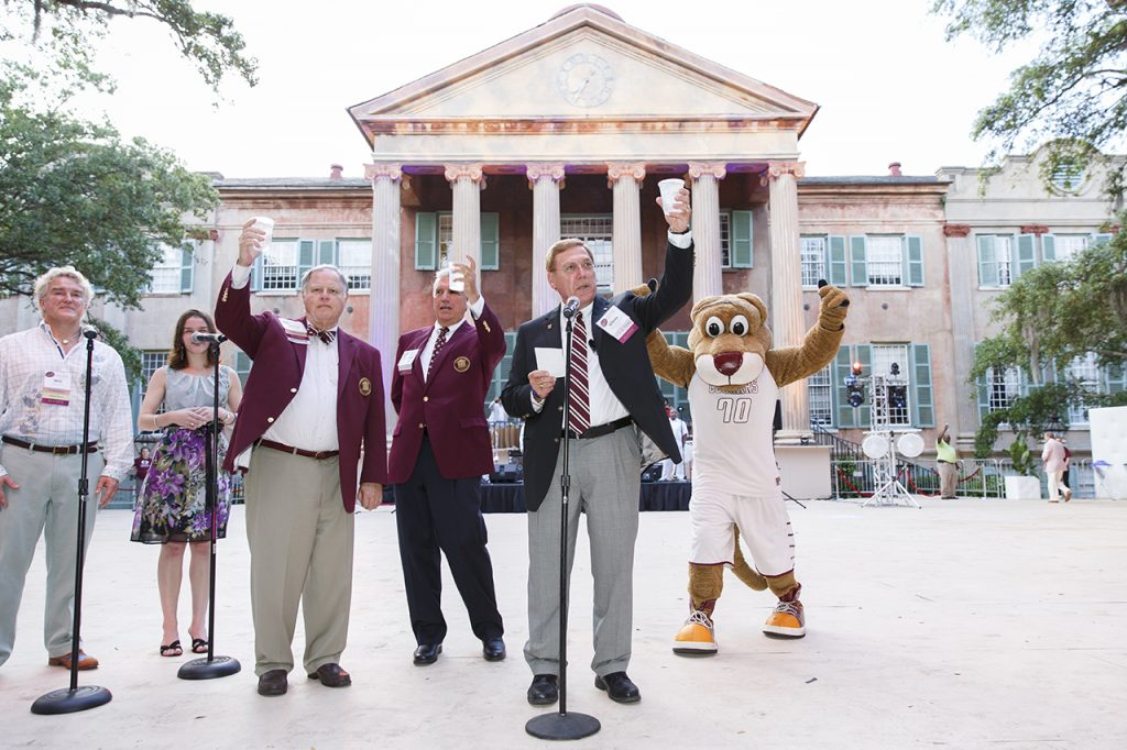 President Glenn McConnell '69 leads a toast at the 2016 edition of A Charleston Affair.