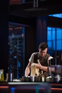 Necco Ceresani '12 makes pasta during the first round of MasterChef, set to air Wednesday night on FOX. (Photo Courtesy FOX)