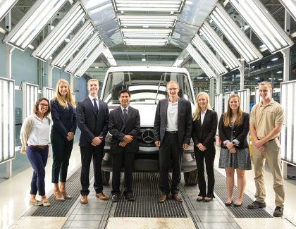 Alums, Students on the Fast Track at Mercedes-Benz Vans