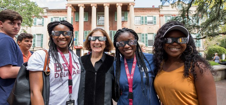 The Top Social Media Posts from CofC's Solar Eclipse Extravaganza