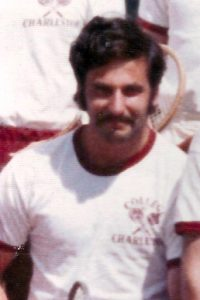 Ed Kovesdy '72 while on the College of Charleston's tennis team.