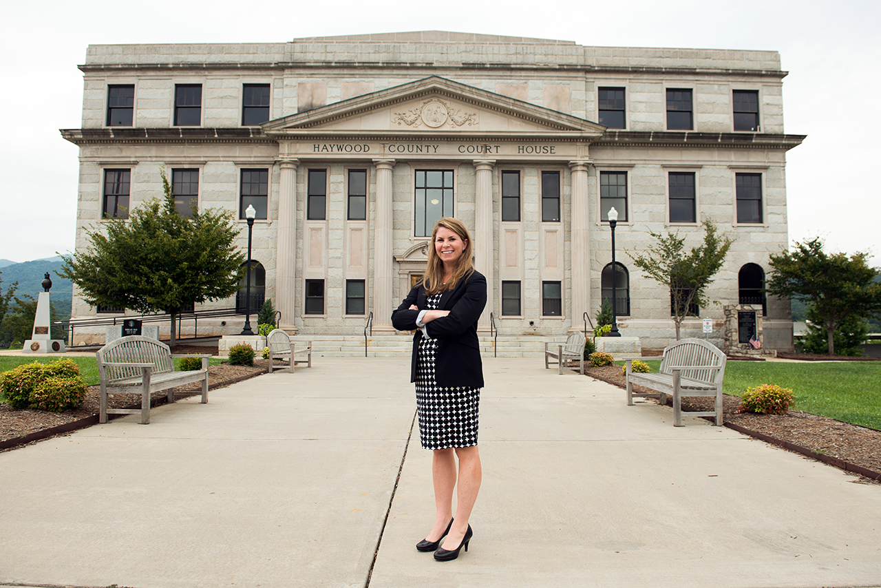 Kate Wrenn '06 is the assistant district attorney for the Haywood County District Attorney's Office in Waynesville, North Carolina.