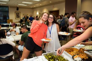 Students share a fun moment at a recent JSU Meet-to-Eat event.