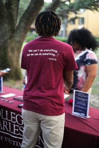 The student organization, SCOPE, was a sponsor of the vigil. (Photo by Kailyn Foard)