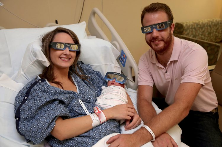CofC Alumna's Baby Born During Solar Eclipse