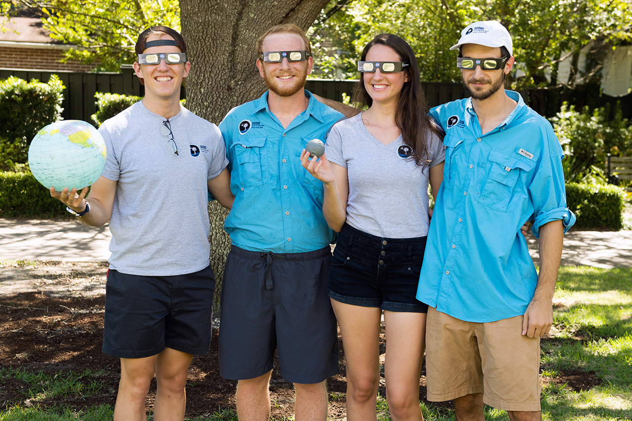 Students Carson Keeter, Robert Moody, Ashley Turner and Sam Fink gained a lot of experience through NASA's solar eclipse ballooning project.