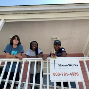 Students volunteered with Home Works through the College's Center for Civic Engagement.