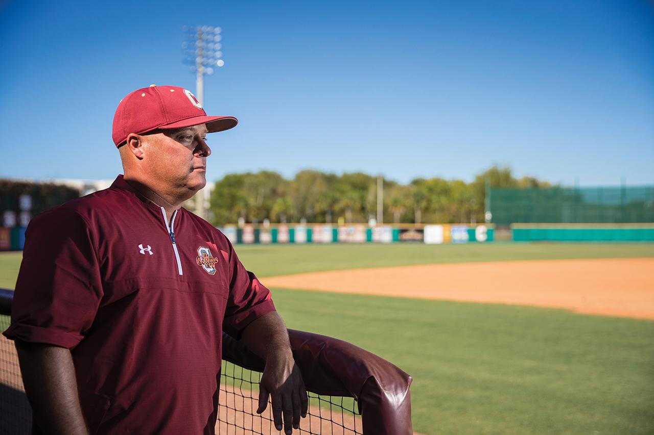 Baseball coach Chad Holbrook
