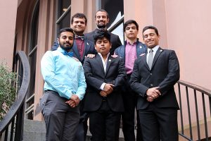 CofC's colony of Lambda Theta Phi includes members with a diverse range of ethnicities.
