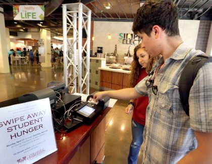 Swipe Away Student Hunger Campaign Raises Over $50K