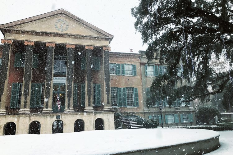 Check Out These Snowy Vistas at CofC