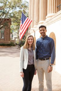 Students Lauren Johnson and Deon McCray. (Photos by Reese Moore)