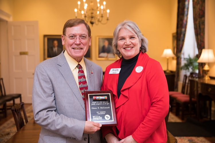 President McConnell Receives Respite Care Award