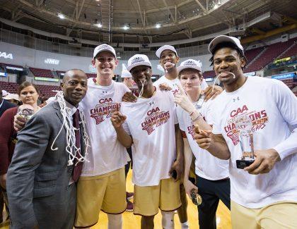 Bond of Brothers: Men's Basketball Seniors Celebrate Magical Win