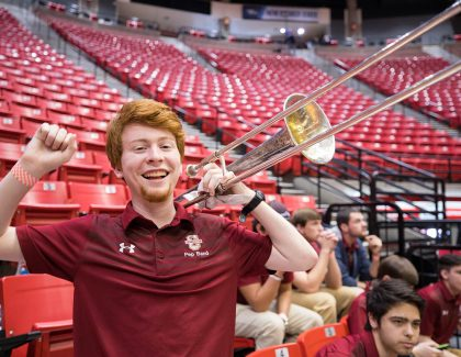 CofC Pep Band, Cheer and Dance Squads Await Big Dance