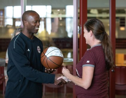 Staff Advisory Committee Celebrates Basketball Season at Drop-in