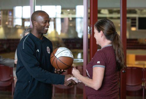 Staff Advisory Committee Celebrates Basketball Season at Drop-in