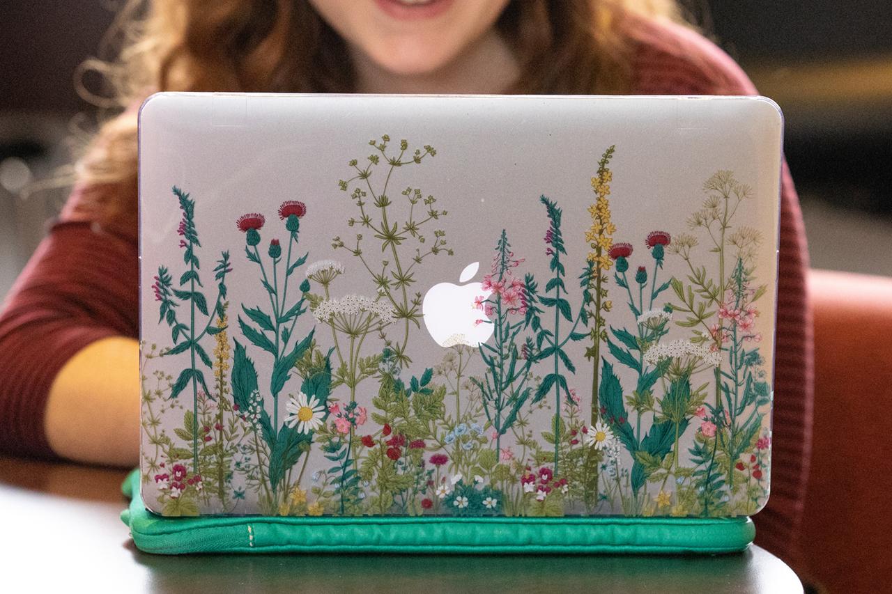 Personalized floral Mac laptop