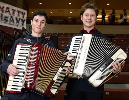 Accordions Bring Unique Sound to CofC Pep Band