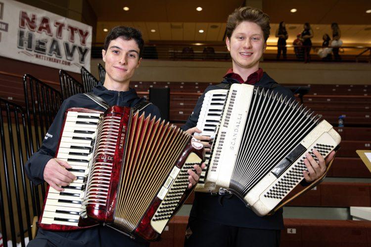 Accordions Bring Unique Sound to CofC Pep Band