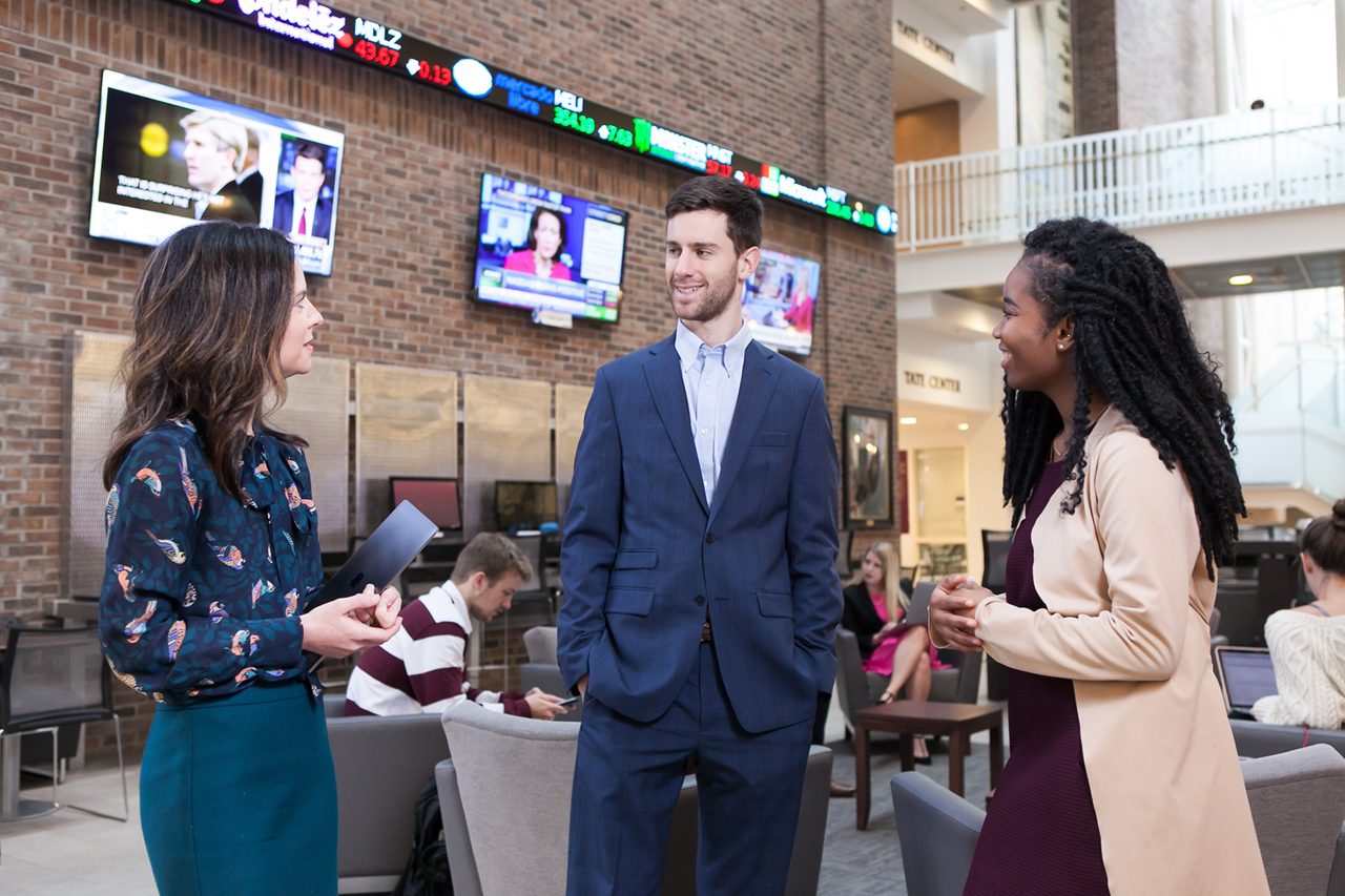 mba students in the beatty center