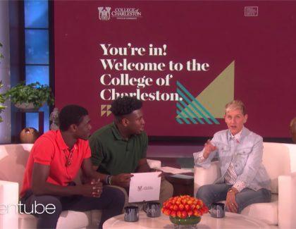 Ellen DeGeneres Surprises High School Students with Scholarships to CofC
