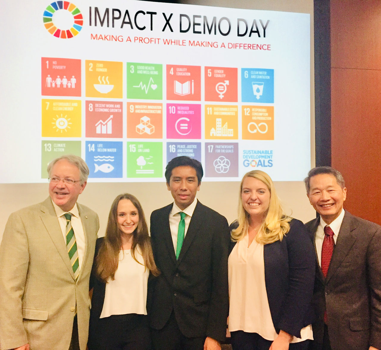 2019 student winners of the ImpactX competition