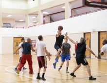 Faculty, Staff Keep the Pickup B-ball Rolling