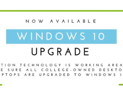 IT Requests Faculty, Staff Install Windows 10 Prior to Deadline