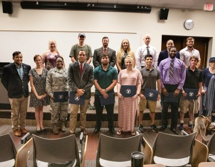 CofC Veteran and Military Students Inducted into Honor Society