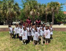 Elementary School Students Tour CofC as Part of 'Kindergarten College'