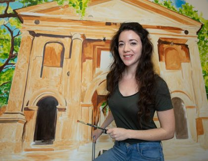 CofC Murals Push Alumna to 'Learn and Grow'