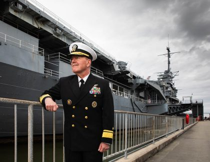 Naval Officer is Fully Committed