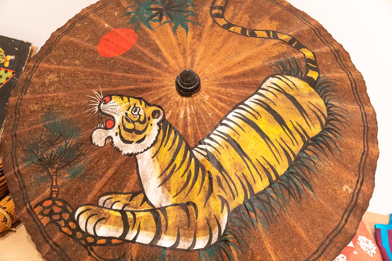 Artwork showing a tiger.