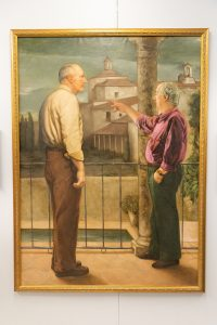 Esther Ferguson commissioned a painting of her husband James and neighbor, Duarte Pinto Coelho, in Trujillo, Spain.