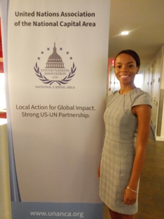 Alexis Wright at the United Nations Association of the National Capital Area.