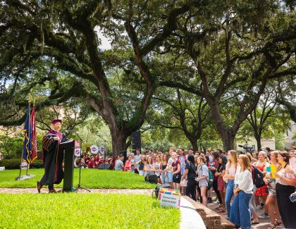 President Hsu to Students: 'This is Going to be Our Time'