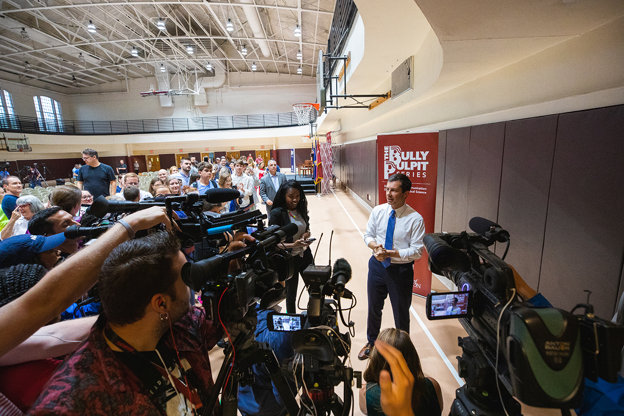 Democratic presidential candidate Pete Buttigieg visits the College of Charleston